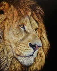 Deep Presence by Darryn Eggleton - Original Painting on Box Canvas sized 32x39 inches. Available from Whitewall Galleries